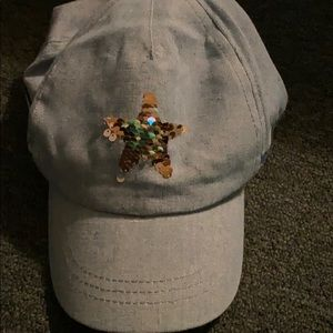 NWT Girls hat with star sequence and rainbow